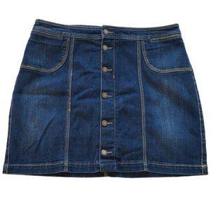 Christopher & Banks Plus Denim Midi Skort Skirt-16